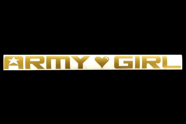 ARMY GIRL LOGO DECAL