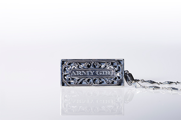 BILL DESIGN SILVER & DIAMOND PENDANT