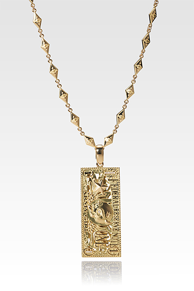 BILL DESIGN GOLD & DIAMOND PENDANT