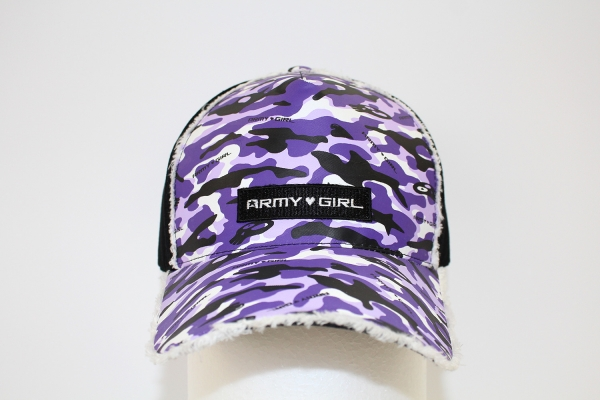 NO.014 CAMOUFLAGE PURPLE/BLACK CAP