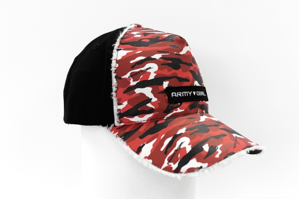NO.015 CAMOUFLAGE RED/BLACK CAP