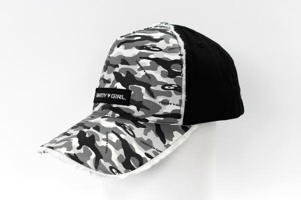 NO.013 CAMOUFLAGE GRAY/BLACK CAP