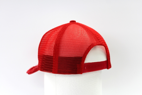 "NO.012 SPANGLE RED/RED""1"" MESH CAP"