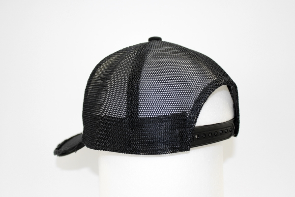 "NO.011 SPANGLE BLACK/BLUE/RED""1"" MESH CAP"