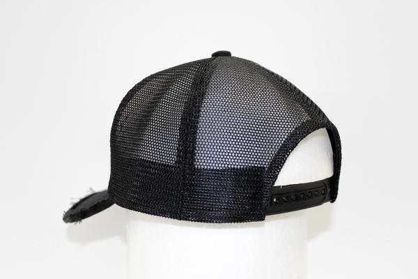 "NO.010 SPANGLE BLACK/BLACK""1"" MESH CAP"