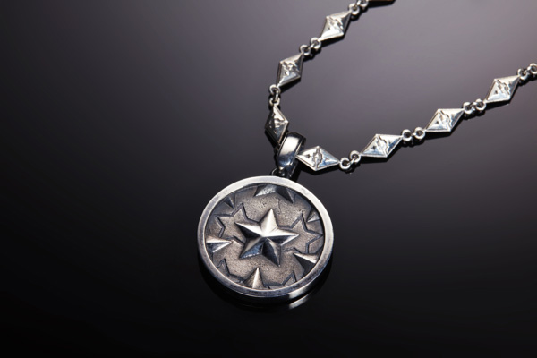 NO.001 COIN DESIGN SILVER PENDANT