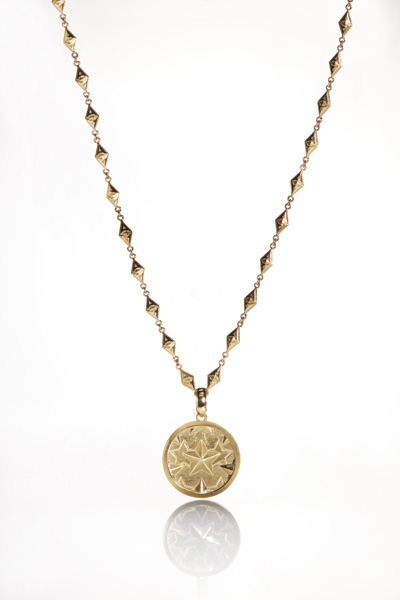 NO.001 COIN DESIGN GOLD PENDANT