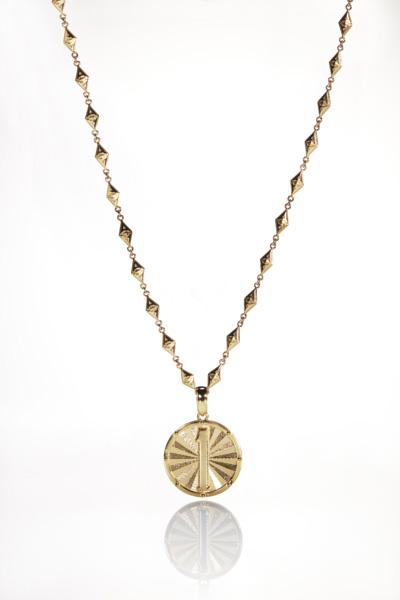 NO.001 COIN DESIGN GOLD PENDANT