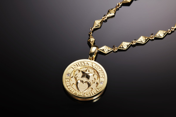 NO.002 COIN DESIGN GOLD & DIAMOND PENDANT